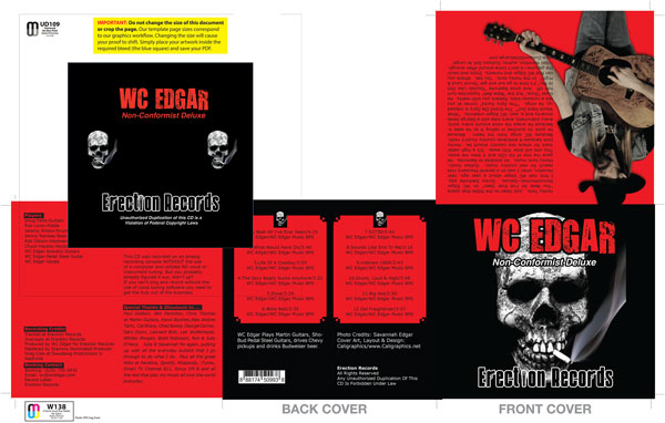 Wc Edgar CD inserts by Caligraphics