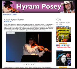 Hyram Posey web site by Caligraphics